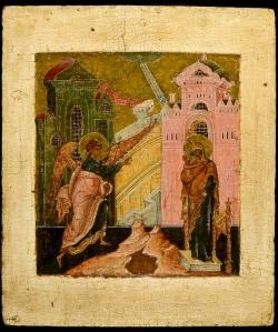 Annunciation, Russia, Stroganov, circa 1600, 31 x 26.5 cm ©