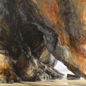 Carnewas: warm light Oil on linen; signed 120 x 120 cm