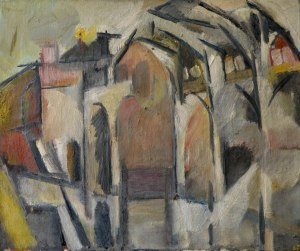 Arcade, 1967 Dated '67 Oil on canvas 25 x 30 in / 64 x 76 cm