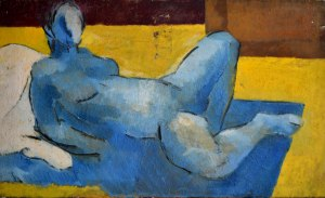 Blue nude, circa 1968 Oil on canvas 23.5 x 39.5 in / 60 x 100 cm