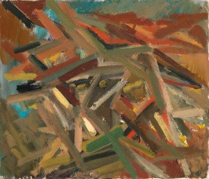 Looking into the distance, 1947-48 Oil on canvas 25 x 30 in / 64 x 76 cm