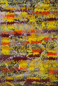 Pagine 2009 Mixed media 150x100cm © Renato Pengo