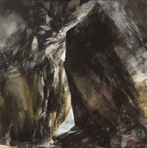 Porthmissen: uplit Oil on linen; signed 100 x 100 cms