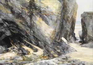 Revelation: Newtrain Oil on linen; signed 70 x 100 cms