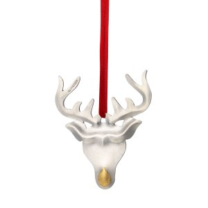 Reindeer with a gold nose by Christopher Perry  www.thegoldsmithsdirectory.co.uk