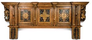 Ceremonial Oak Bedhead made for the marriage of King Henry VIII and Anne of Cleeves (1539)