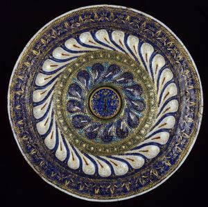 Enamelled copper dish. Made in Venice; Italy; 15th century