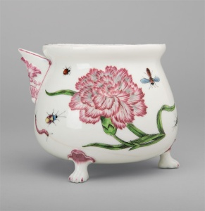 JUG (COVER AND HANDLE MISSING) (pot à bouillon/marmite) Vincennes, soft-paste porcelain c.1746/7  (Belvedere Collection)