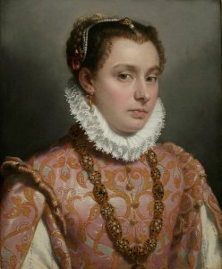 Giovanni Battista Moroni Young Lady, c.1560-65 Oil on canvas, 51 x 42 cm Private collection Photo: Private collection