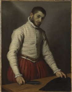 Giovanni Battista Moroni The Tailor, c. 1570 Oil on canvas, 99.5 x 77 cm The National Gallery, London Photo c. The National Gallery, London
