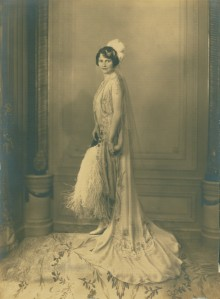 Photograph of Marjorie Post taken at the time of her presentation of the Court of St. James's in 1929. Courtesy Hillwood Estate, Museum and Gardens