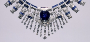 Necklace, 1936/1937 Centerpiece by Cartier, New York Sapphires, diamonds, platinum Courtesy Hillwood Estate, Museum and Gardens