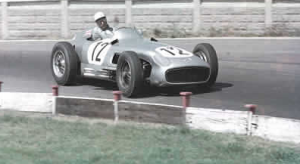 Stirling Moss Mercedes 1955 British GP.