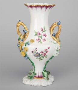 VASE (?vase Duplessis Urne/?vase Duplessis à fleurs) c.1750/51Provenance: Elizabeth Parke Firestone Collection, USA Exhibited at the Detroit Institute of Arts, 1956, no. 418  (Belvedere Collection)
