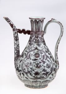 Wine ewer China; Jingdezhen (place of manufacture) Ming Dynasty – 15th Century