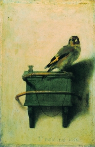DUTCH GOLDEN AGE Carel Fabritius The Goldfinch, c 1654 Oil on panel, 33.5 x 22.8cm, 13 1/4 x 9 in Mauritshuis, The Hague