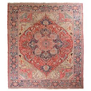 Antique Persian Heriz, 5 x 3.5m, c1870, Pars Rug