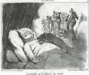 Honore Daumier Cursed by the Shadows of his Victims © courtesy of Juan Espino Navia