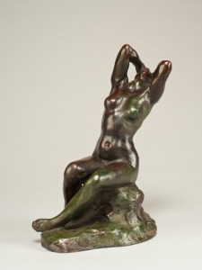 Desespoir / Despair Aimé-Jules Dalou (French, 1838-1902) Signed Dalou and inscribed Cire Perdue Susse Frs Edrs Paris Bronze with a dark brown, green and and red/brown patination Height: 8 inches (20.3 cm) ©