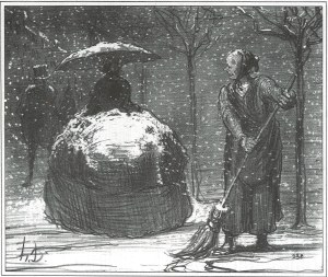 Honore Daumier Crinoline in Winter © courtesy of Juan Espino Navia