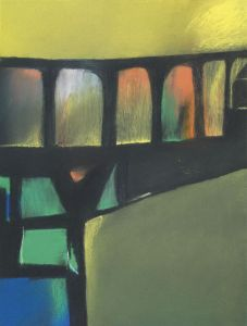 David Blackburn  b. 1939  ACROSS THE VIADUCT, 2005 pastel   48 x 36 cm Courtesy of Messum's Fine Art