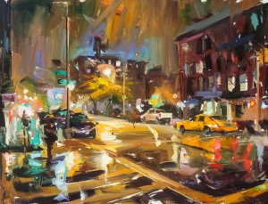 Paul Wright Orange Street Oil on canvas 39 x 50 Courtesy of Thompson's Gallery