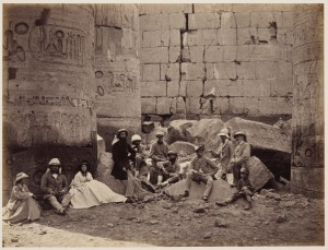 The Prince of Wales and party among ruins in Karnak, Thebes, Egypt, March 1862 Royal Collection Trust / © Her Majesty Queen Elizabeth II 2014