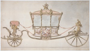 Design for the Gold State Coach, Sir William Chambers and Giovanni Battista Cipriani, 1760 Royal Collection Trust / © Her Majesty Queen Elizabeth II 2015