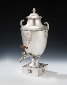 George III large silver tea/water urn, made in London in 1771 by Daniel Smith and Robert Sharp, Mary Cooke Antiques