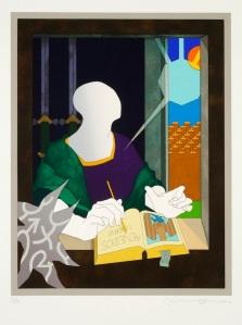 Tom Phillips 'Dante's Inferno: Dante in his Study' 1983 ©