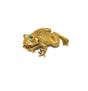 A frog dress clip by Van Cleef & Arpels, Paris, 1960s, Anthea AG Antiques