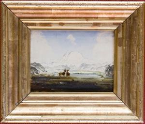 Mount Snøhetta, Dovre 1877 Oil on wood 13 × 16.5 cm Credit Line:Trondheim Kunstmuseum © Trondheim Kunstmuseum, photo Tore Strønstad