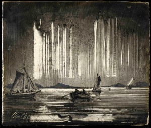 Northern Lights 1870s Oil on board 10 × 12 cm Credit Line:The Hearn Family Trust © Photo courtesy of the owner
