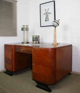 Edd In The Clouds  French Art Deco Partners Desk- 1920s