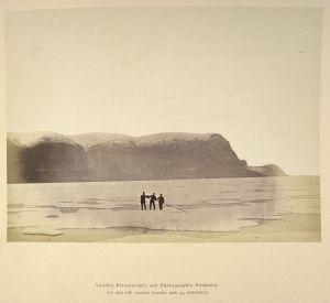 A photograph taken during the Arctic expedition of 1875-76 on display in Lines in the Ice.  Photograph courtesy of the British Library.