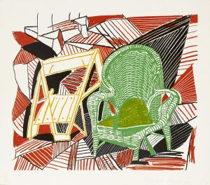 DAVID HOCKNEY (British, born 1937) Two Pembroke Studio Chairs, from Moving Focus (MCA Tokyo 276; T. 264), 1984 Lithograph in colors on HMP handmade paper, signed in pencil, dated, and numbered 46/98 (there were also 10 artist's proofs), with the blindstamp of the publisher, Tyler Graphics, Ltd., Mount Kisco, New York, with full margins. 16 x 19in (40.6 x 48.2cm) sheet 18 7/8 x 22in (47.7 x 55.9cm) US$5,000-7,000