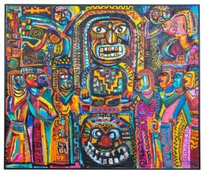 Javad Mir Javadov Masquerade 1987 oil on canvas 205 x 245 cm Private collection Baku (C)