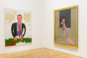 Installation View, including Francis Bacon's Portrait of John Edwards, 1988 and  Jean-Michel Basquiat's ROB'T FRAZER, 1984 © The Estate of Jean-Michel Basquiat / ADAGP, Paris and DACS, London 2015. © The Estate of Francis Bacon. All rights reserved. DACS 2015.