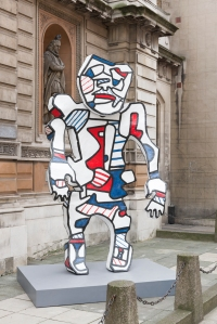"Jean Dubuffet Cherche-Aubaine (after maquette dated 30 July-December 1973), 1973-2014 polyurethane paint on epoxy resin 399 cm x 211 cm x 117 cm (157-1/16"" x 83-1/16"" x 46-1/16"") work,  27 cm x 269 cm x 200 cm (10-5/8"" x 105-7/8"" x 78-3/4"") plinth © ADAGP, Paris and DACS, London 2015"