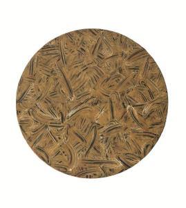 Richard Long Guitars, Cadillacs, 2014 A two panel carborundum relief on Moulin Du Gue 350 gsm paper 232 x 209 cm / Image diameter 173 cm Edition of 12 Courtesy Richard Long and Alan Cristea Gallery, London