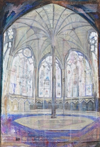 The Chapter House,                           Westminster Abbey 2014 80 x 55 cm./31 ½ x 21 ½ in Courtesy of Marlborough Fine Art