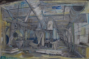 Millenium Mills 2014                         100 x 150 cm 39 ¼ x 59 in. Courtesy of Marlborough Fine Art