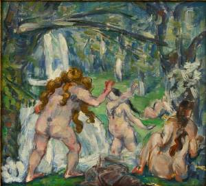 Paul Cezanne Three Bathers, c. 1875 Oil on canvas, 30.5 x 33 cm Private Collection Photo: Ali Elai, Camerarts