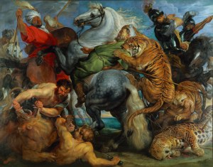 Peter Paul Rubens Tiger, Lion and Leopard Hunt, 1616 Oil on canvas, 256 x 324.5 cm Rennes, Musee des Beaux Arts Photo c. MBA, Rennes, Dist. RMN-Grand Palais / Adelaide Beaudoin