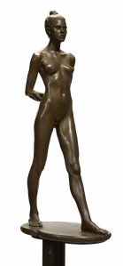 ROBERT GRAHAM (American, 1938-2008) Elisa, circa 1994 bronze with light brown patina on brass base height overall 58 5/8in (149cm) US$20,000-30,000