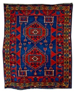 Salahly Carpet late XIX century Gazakh group Wool 146 x 123 cm (C)