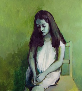 Green Girl, 2015  (c) Claerwen James,  courtesy of Flowers Gallery, London and New York