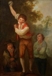 Irish Road Bowlers attributed to Nathaniel Grogan Jnr, ca 1790 Bagshawe Fine Art