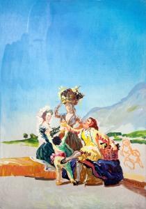 Peter Schmersal,  Herbst oder die Traubernte  nach Goya, 2009  (c) Peter Schmersal, Courtesy of Flowers Gallery London and New York