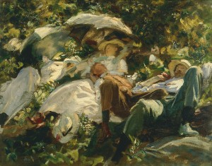 Group with Parasols by John Singer Sargent, c.1904–5 Copyright: Private collection